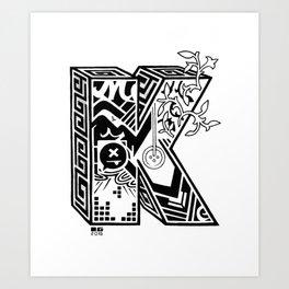 The Letter K Art Print