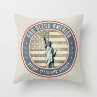 religious Throw Pillows featuring Defend Religious Liberty by politics
