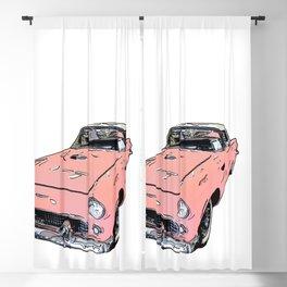 Pink Sports Car Automobile Art by Daniel MacGregor Blackout Curtain