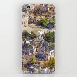 Rock Village of Kayakoy AKA Levissi Pencil Sketch iPhone Skin