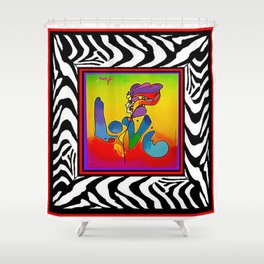 FRAMED PETER MAX Shower Curtain