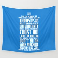 tardis Wall Tapestries featuring Tardis by Tombst0ne