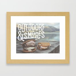 outdoors & S'mores Framed Art Print