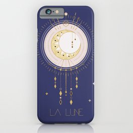 The Moon and stars - magical tarot illustration no6 iPhone Case