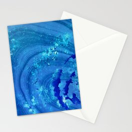 Blue Abstract Modern Art - Infinity - Sharon Cummings Stationery Cards