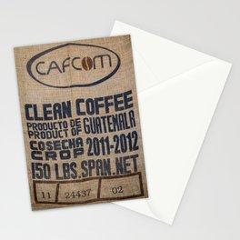 Guatemala - Burlap Coffee Bag Stationery Cards