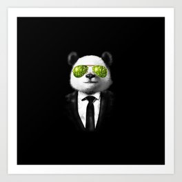 Mr Panda  Art Print