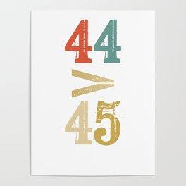 44 > 45 Anti Trump Impeach Poster