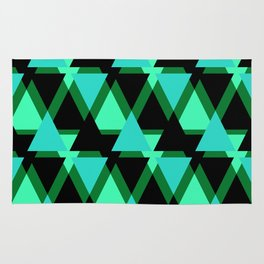 Abstract pattern . The green triangles . Rug