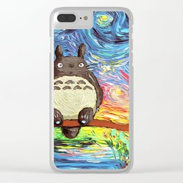 Starry Night My Neighbor Clear iPhone Case