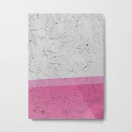Woodchip Pink Metal Print