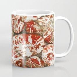 Red Paint Abstract Drip Stones AKA Pollock Coffee Mug