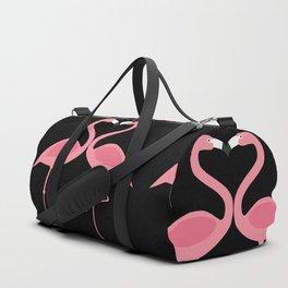 Flamingos Kissing in the Dark Duffle Bag
