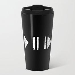 White Music Controls Travel Mug