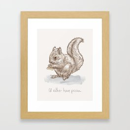 Pizza for All (Including Squirrels) Framed Art Print