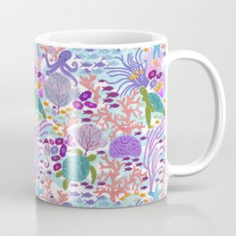 Rush Hour at the Reef - Ocean Life - Sea Life - Marine - beach  Coffee Mug