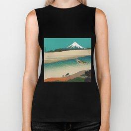 Tama River and Mount Fuji Biker Tank