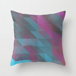 Tri Squares Throw Pillow