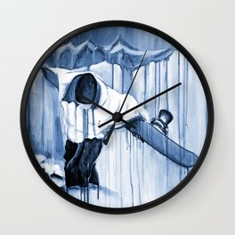 'Earning The Line' Wall Clock