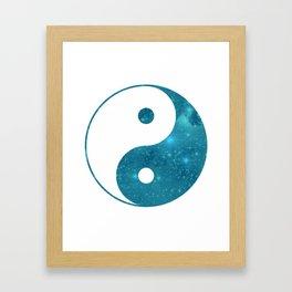 Blue Yin Yang symbol Framed Art Print