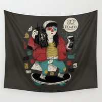 80s Wall Tapestries featuring 80s power! by Louis Roskosch
