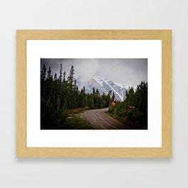 The back roads Framed Art Print