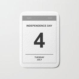 4th July Tuesday Bath Mat