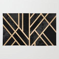 Art Deco Black Rug