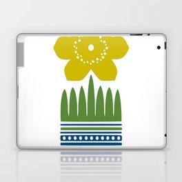 Nordic Yellow Flower Laptop & iPad Skin