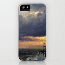 Sunset on the Coast of Maine near Port Clyde - Hermann Ottomar Herzog iPhone Case