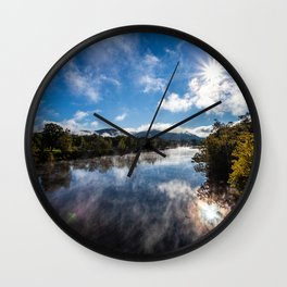 Morning Country River Wall Clock