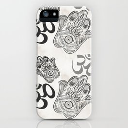 Hamsa Yoga Pattern iPhone Case