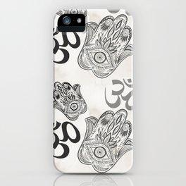 Hamsa Yoga Pattern iPhone Case