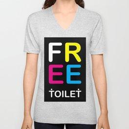 TOILET CLUB #free Unisex V-Neck