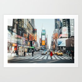 New York Bustle Art Print