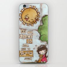 Be the Light (with dog) iPhone & iPod Skin
