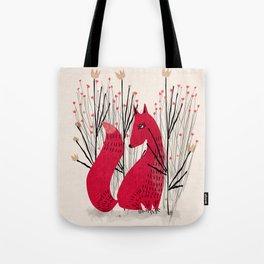 Fox in Shrub Tote Bag