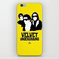 velvet underground iPhone & iPod Skins featuring VELVET UNDERGROUND Y by zzglam