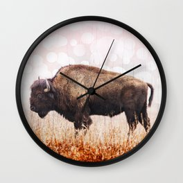 Boho Buffalo Wall Clock