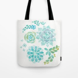 Watercolor Succulent Garden 1 Tote Bag