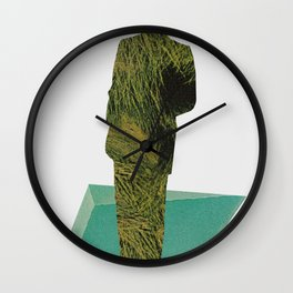 weaving threads of rushing water Wall Clock