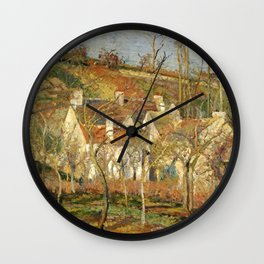 "Camille Pissarro ""The Red Roofs, a Corner of a Village, Winter Effect"" Wall Clock"