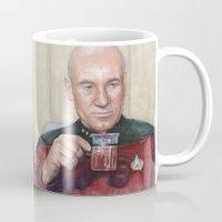 picard Mugs featuring Captain Picard Earl Grey Tea | Star Trek Painting by Olechka