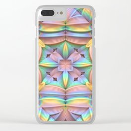 Symmetry in Pastels Clear iPhone Case