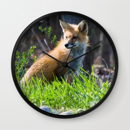 Foxy in the Morning Wall Clock