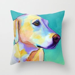 Ginger - Yellow Lab Throw Pillow