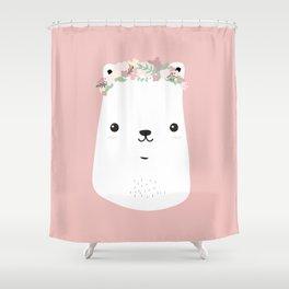 Flower bear Shower Curtain