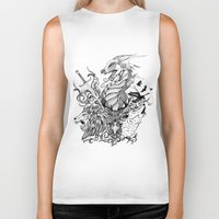 thrones Biker Tanks featuring Game of Thrones by Ink Tales