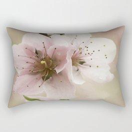 Pink Peach Blossoms Rectangular Pillow