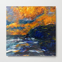 1910 Classical Masterpiece 'The Sea' Herbstmeer by Emil Nolde Metal Print